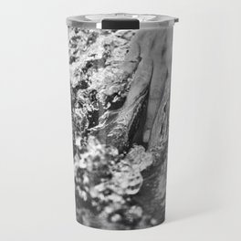 Running hand through the water, under the blue again black and white photograph / art photography Travel Mug
