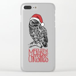 Merry Christmas II Clear iPhone Case