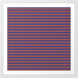 Decorative Blue Pattern Stripe Design Art Print
