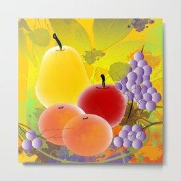 Fruity Fruits Metal Print