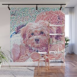 Copper the havapookie as a puppy Wall Mural