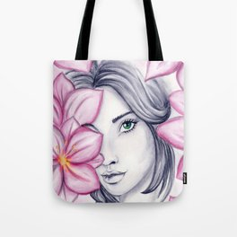 into flowers Tote Bag