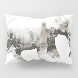 Double exposure elephant Pillow Sham