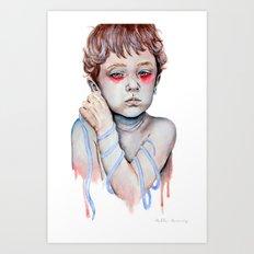 Shoelace Art Print