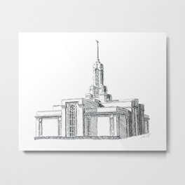 Mount Timpanogos LDS Temple Metal Print