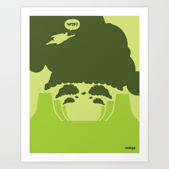 WTF? Super! Art Print