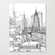 New York! B&W Canvas Print