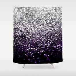 Dark Night Purple Black Silver Glitter #1 #shiny #decor #art #society6 Shower Curtain