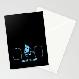 Junior Champ Weight Lifter V6S2 Stationery Cards