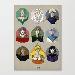 FUTURE SAILOR MOON QUEENS Canvas Print