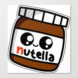 nutell nutel a chocolate new choco coco sticker stickers art new fun delicious cute hot 2018 Canvas Print