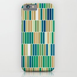 Bookshelves, abstract illustration of vertical bars iPhone Case