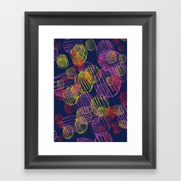 pencil circles Framed Art Print