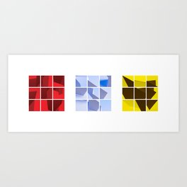 Red Blue Yellow Art Print