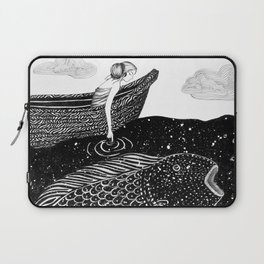 The Shimmering Sea Lights Laptop Sleeve