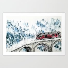 Winter Travel Art Print
