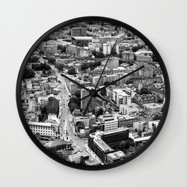 London Urban Cityscape Monochrome Wall Clock