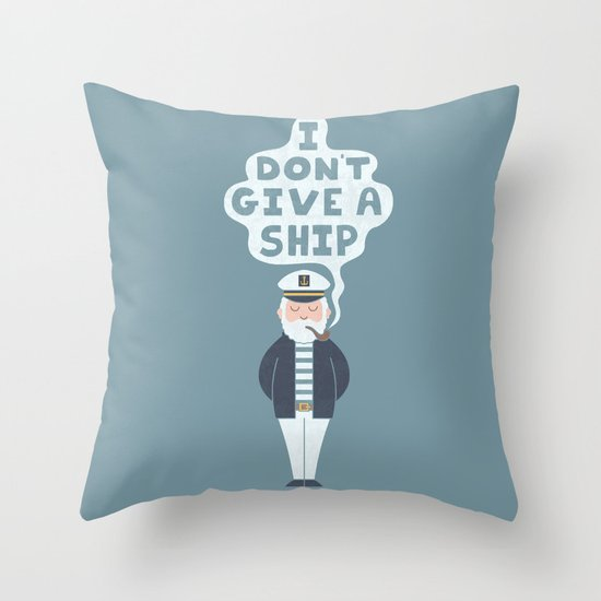 Indifferent Captain Throw Pillow