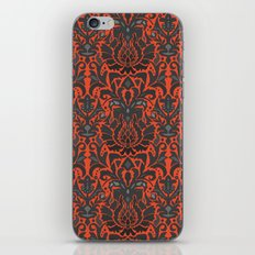 Aya damask orange iPhone Skin