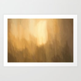 Abstract Beige Shades. Like painted on canvas. Art Print
