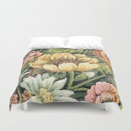 Grandma's Vintage Floral Couch Duvet Cover