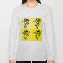 Astronaut (Bright Yellow) Long Sleeve T-shirt