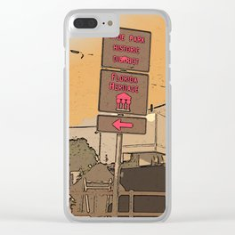South Tampa -  Hyde Park historic district - Florida heritage - Tampa art Clear iPhone Case