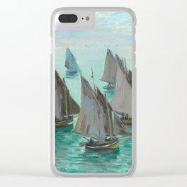 """Claude Monet """"Bateaux de pêche, temps calme"""" Clear iPhone Case"""
