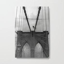 Brooklyn Bridge Cables Metal Print