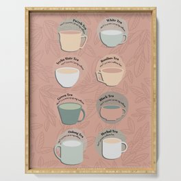 Time for Tea Cups Serving Tray