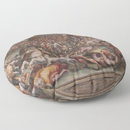 Classic Art The battle of Marciano in Val di Chiana By Giorgio Vasari Floor Pillow