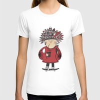 native american T-shirts featuring Native American Skater Boy by Farnell