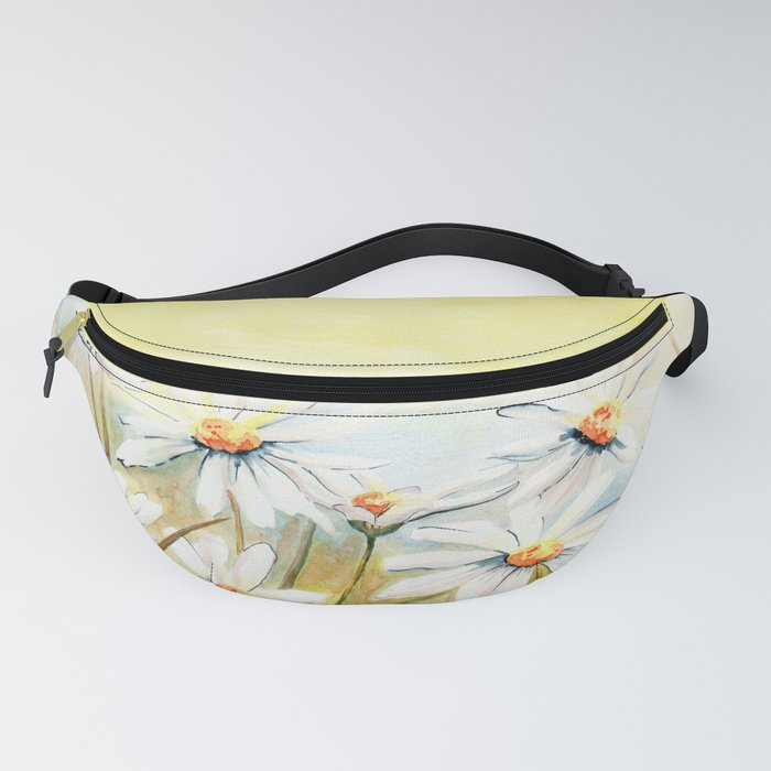 Daisies Watercolor Fanny Pack