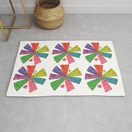 You Are Rainbow flower illustration floral pattern self-love pride Rug