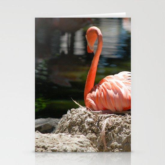 Sitting Flamingo Stationery Cards