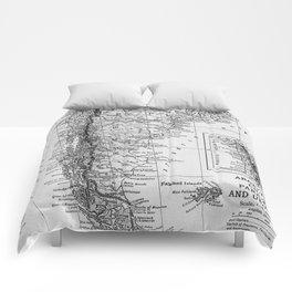 Vintage Map of Argentina (1911) Comforters