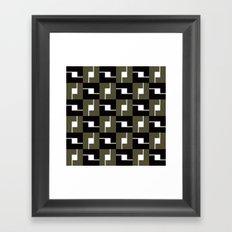 B/W Box pattern Framed Art Print