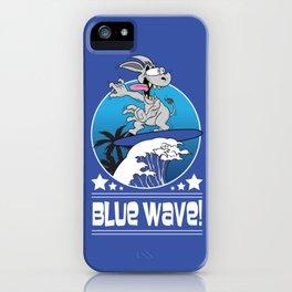Democrat Donkey Blue Wave 2018 Midterm Voters iPhone Case