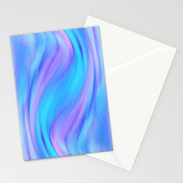 blue and pink feathers Stationery Cards