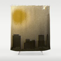 miami Shower Curtains featuring Miami by Maria Julia Bastias