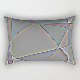 Glowing Geometric Shapes Rectangular Pillow