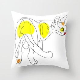 Cat from behind - Singapura Throw Pillow