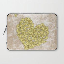 Romantic butterfly swarm on peach texture Laptop Sleeve