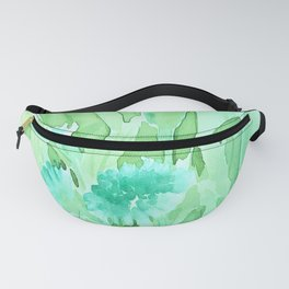 Soft Watercolor Floral Fanny Pack