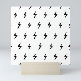 Lightning Bolt Pattern Mini Art Print