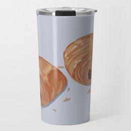 Deux pains au chocolat blue Travel Mug