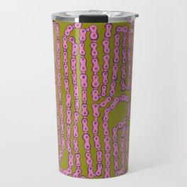 Bike Chain - Puke Pink Travel Mug