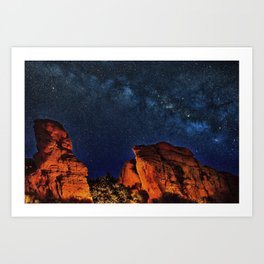 Milky Way View from the Grand Canyon Art Print