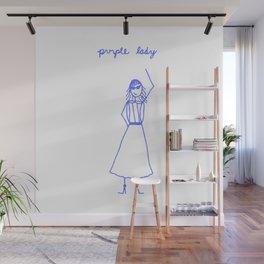 Purple Lady Wall Mural