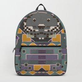 Boho Graphic Pattern Art Design - 3 Black Jaguar Backpack